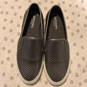 NWOT Slip-On Metallic Sneakers